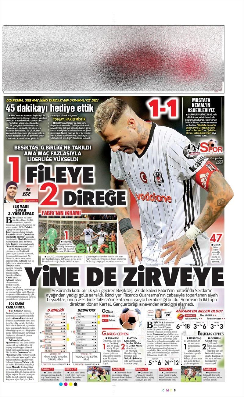 29 Ekim 2016 | Gazetelerin Beşiktaş manşetleri 17