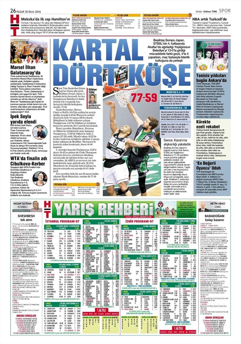 30 Ekim 2016 | Gazetelerin Beşiktaş manşetleri 4