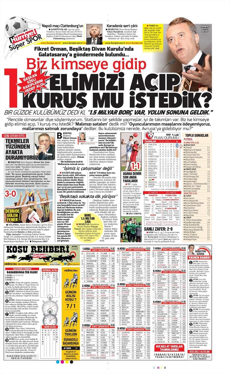 31 Ekim 2016   Gazetelerin Beşiktaş sayfaları 7