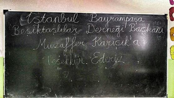 Beşiktaş'ın sıcaklığı bir köy okulunu daha ısıttı 13