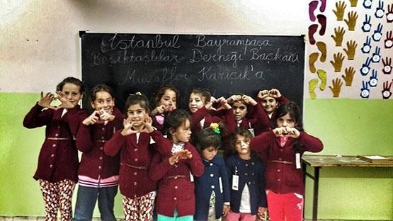 Beşiktaş'ın sıcaklığı bir köy okulunu daha ısıttı 15