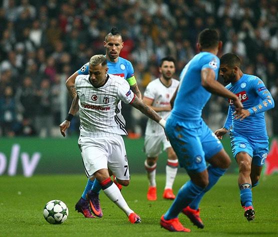 Beşiktaş - Napoli maçından kareler 5
