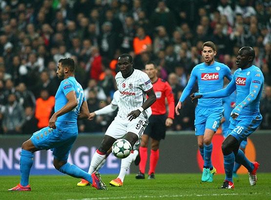 Beşiktaş - Napoli maçından kareler 6