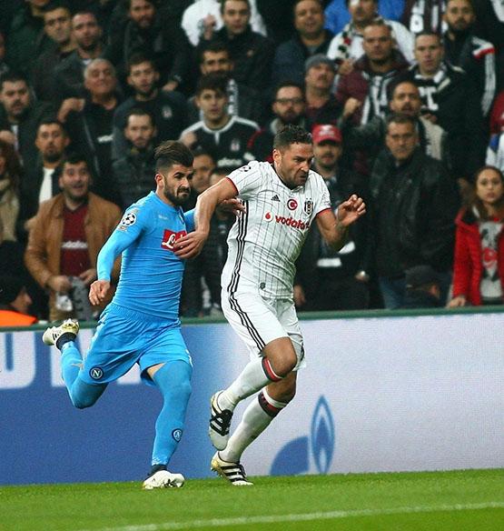 Beşiktaş - Napoli maçından kareler 9