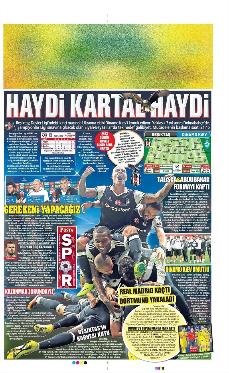 28 Eylül 2016 | Beşiktaş sayfaları 10