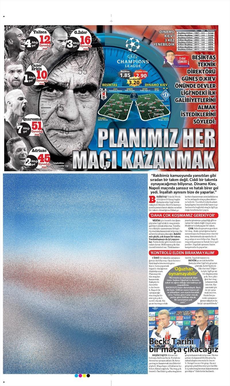 28 Eylül 2016 | Beşiktaş sayfaları 15