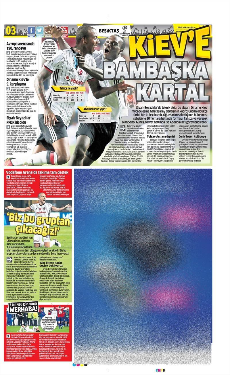 28 Eylül 2016 | Beşiktaş sayfaları 4