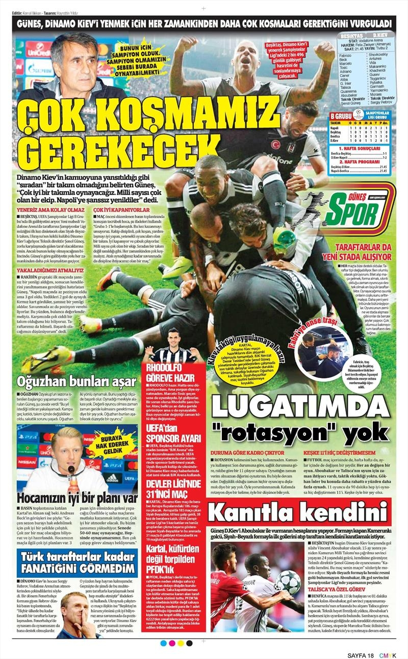 28 Eylül 2016 | Beşiktaş sayfaları 5