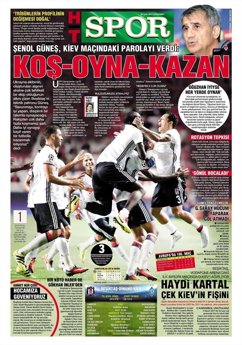 28 Eylül 2016 | Beşiktaş sayfaları 6