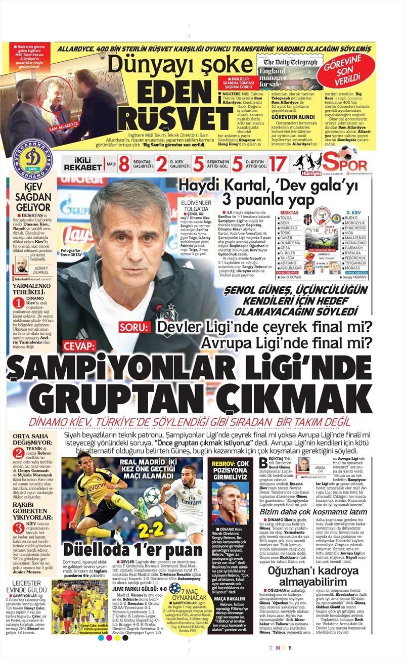 28 Eylül 2016   Beşiktaş sayfaları 7