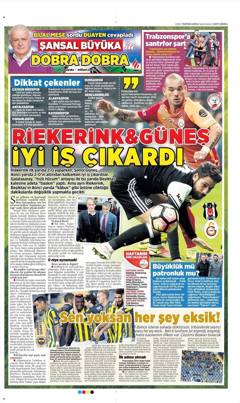 28 Eylül 2016 | Beşiktaş sayfaları 8