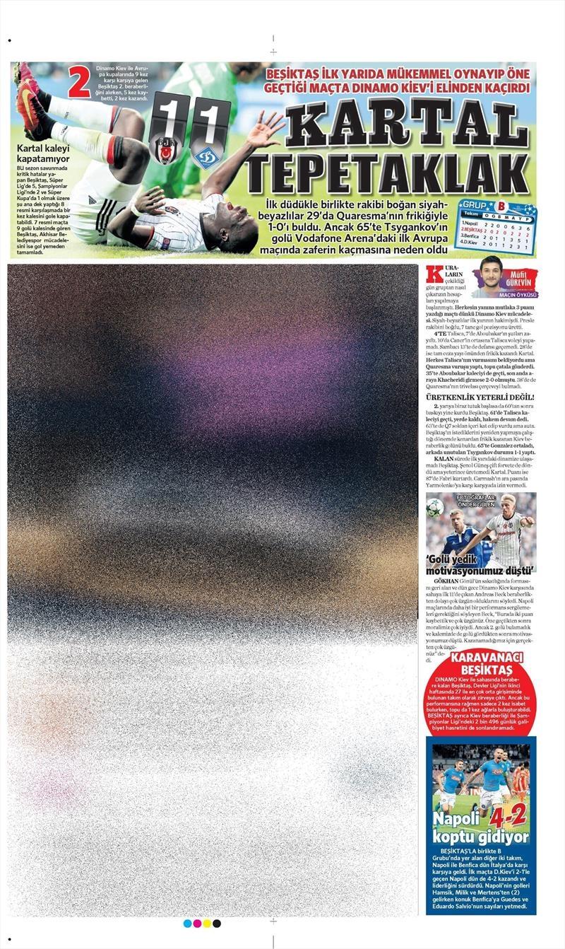 29 Eylül 2016 | Beşiktaş sayfaları 5