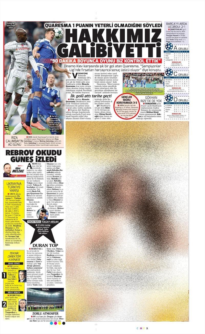 29 Eylül 2016 | Beşiktaş sayfaları 8