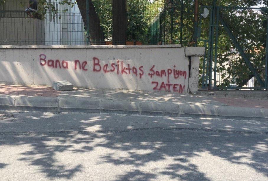 Duvar yazılarında Beşiktaş 18