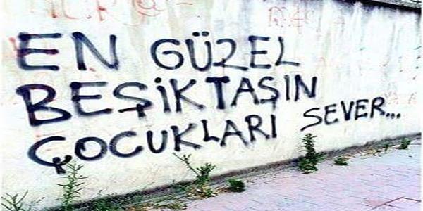 Duvar yazılarında Beşiktaş 2