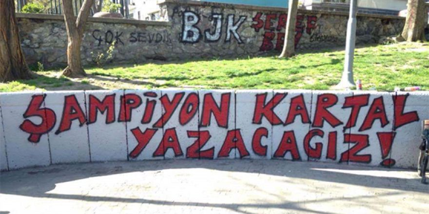 Duvar yazılarında Beşiktaş