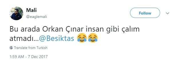 Orkan Çınar'ın 'havalı' çalımı sosyal medyayı salladı 1