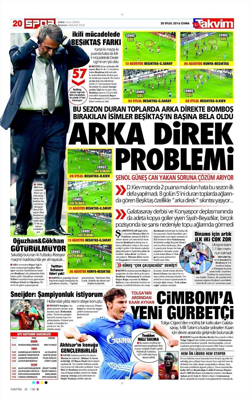 30 Eylül 2016 | Beşiktaş sayfaları 3