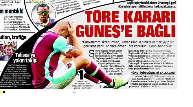 8 Kasım 2016 | Gazetelerin Beşiktaş sayfaları 4