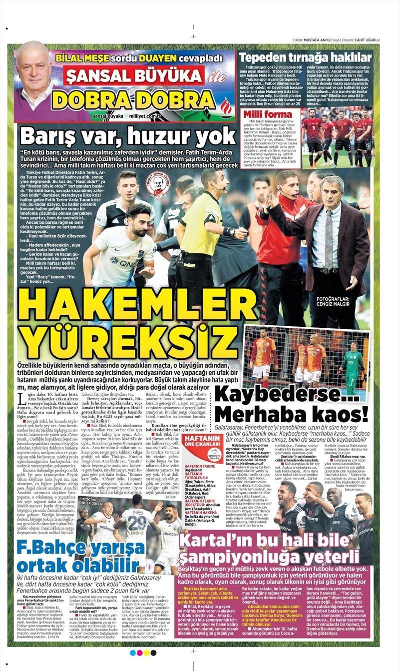 9 Kasım 2016 | Gazetelerin Beşiktaş sayfaları 6