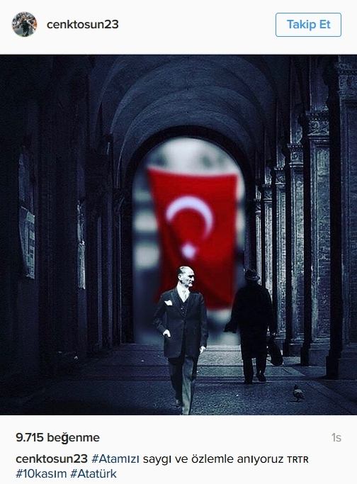Beşiktaş'ın ve Beşiktaşlı futbolcuların 10 Kasım mesajları 1