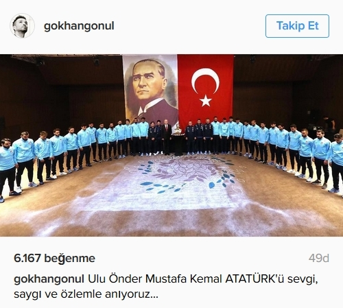 Beşiktaş'ın ve Beşiktaşlı futbolcuların 10 Kasım mesajları 2