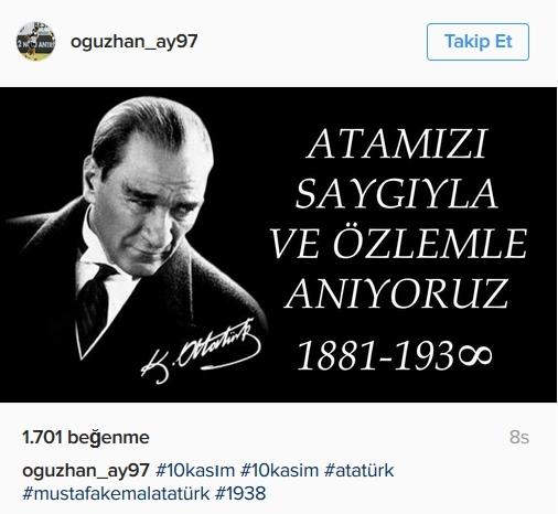 Beşiktaş'ın ve Beşiktaşlı futbolcuların 10 Kasım mesajları 3