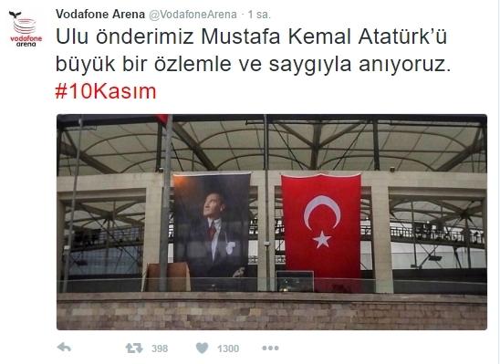 Beşiktaş'ın ve Beşiktaşlı futbolcuların 10 Kasım mesajları 4