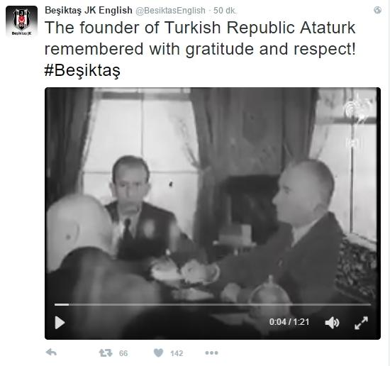 Beşiktaş'ın ve Beşiktaşlı futbolcuların 10 Kasım mesajları 6
