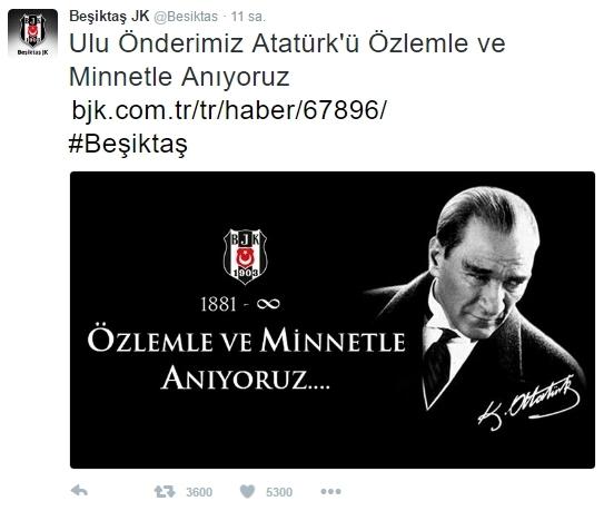 Beşiktaş'ın ve Beşiktaşlı futbolcuların 10 Kasım mesajları 7
