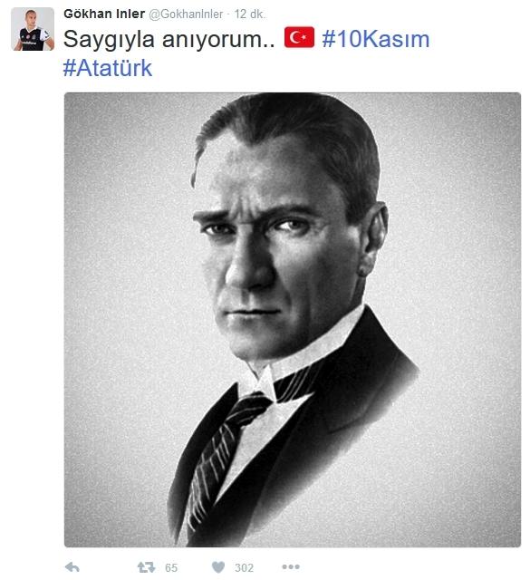 Beşiktaş'ın ve Beşiktaşlı futbolcuların 10 Kasım mesajları 8