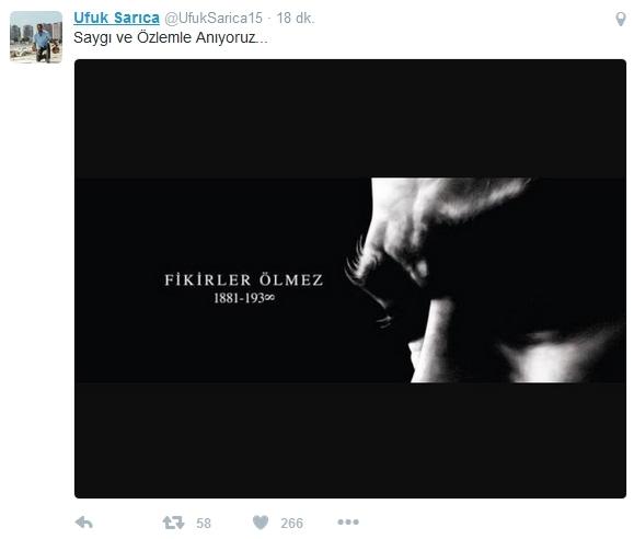 Beşiktaş'ın ve Beşiktaşlı futbolcuların 10 Kasım mesajları 9