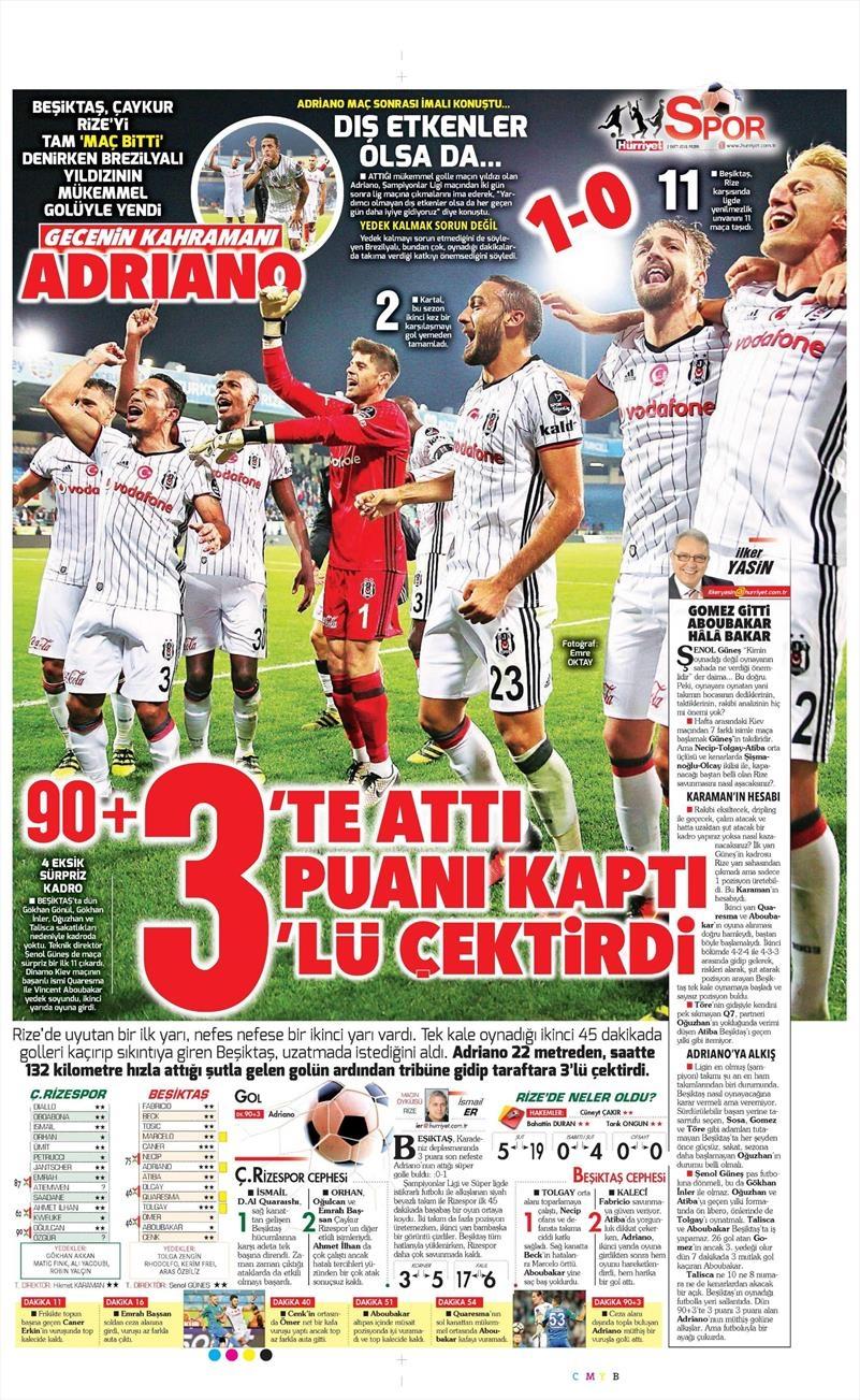 2 Ekim 2016 | Beşiktaş sayfaları 11