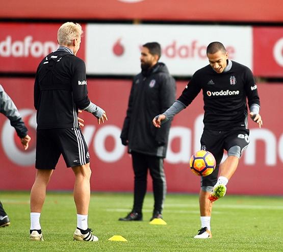 Beşiktaş'ın bugünkü antrenmanından kareler 2