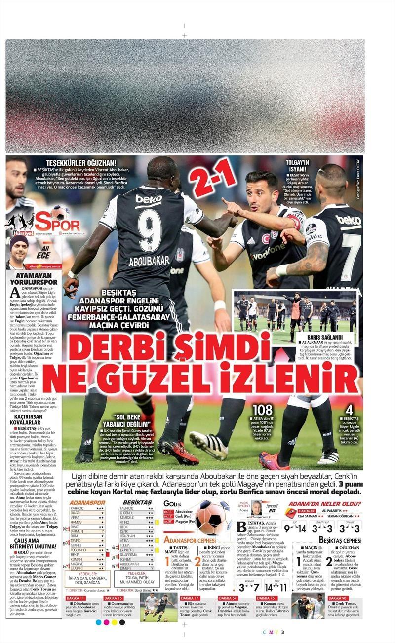20 Kasım 2016 | Gazetelerin Beşiktaş manşetleri 23