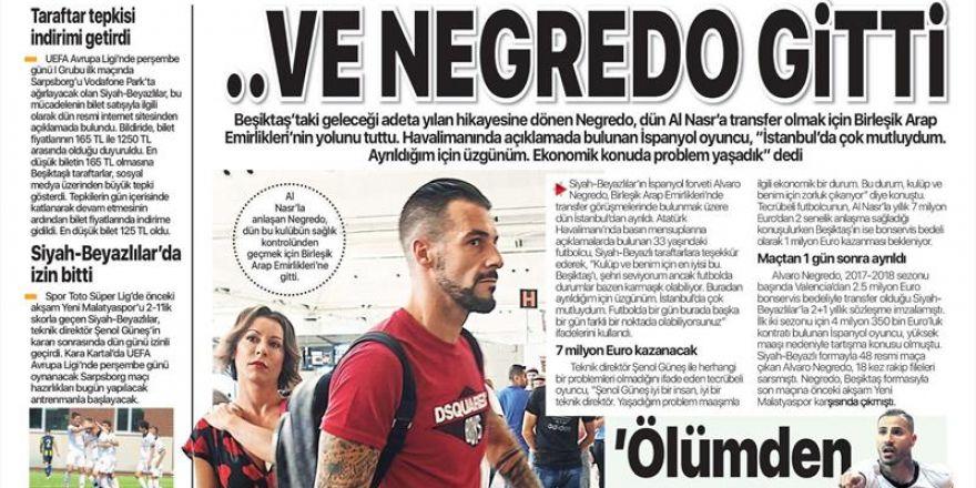 17 Eylül 2018 | Gazetelerin Beşiktaş Manşetleri