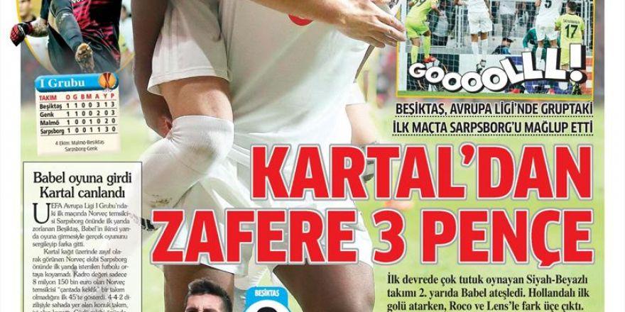 21 Eylül 2018 | Gazetelerin Beşiktaş Manşetleri