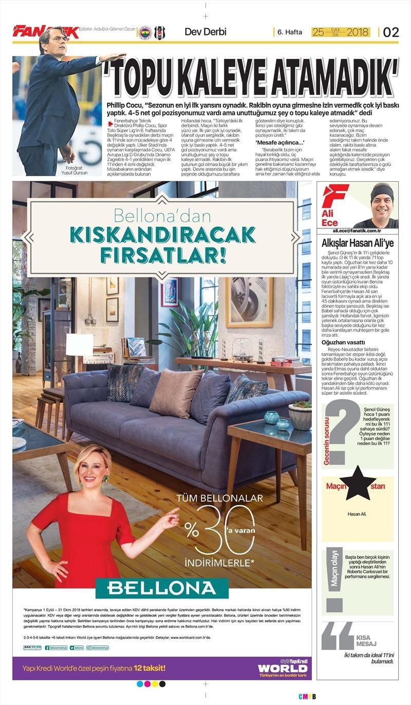 25 Eylül 2018 | Gazetelerin Beşiktaş Manşetleri 1