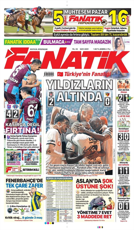 30 Eylül 2018 | Gazetelerin Beşiktaş Manşetleri 1