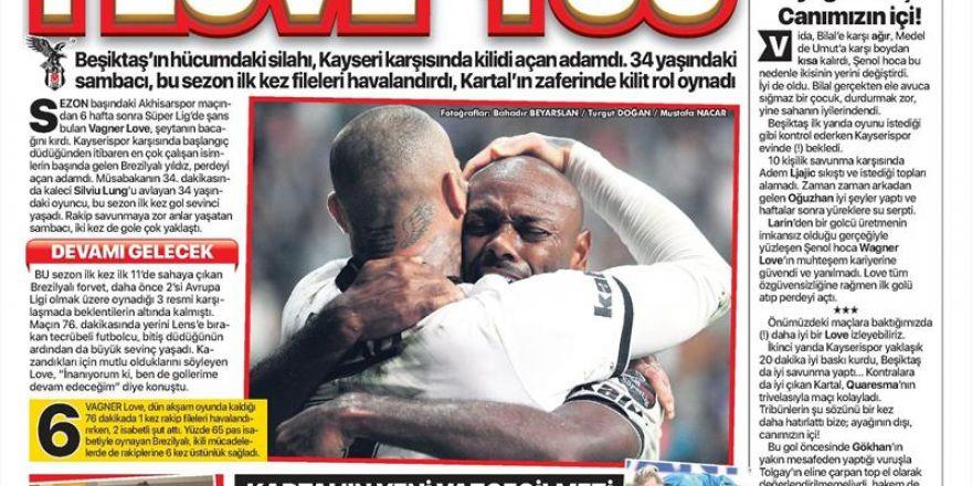 30 Eylül 2018 | Gazetelerin Beşiktaş Manşetleri