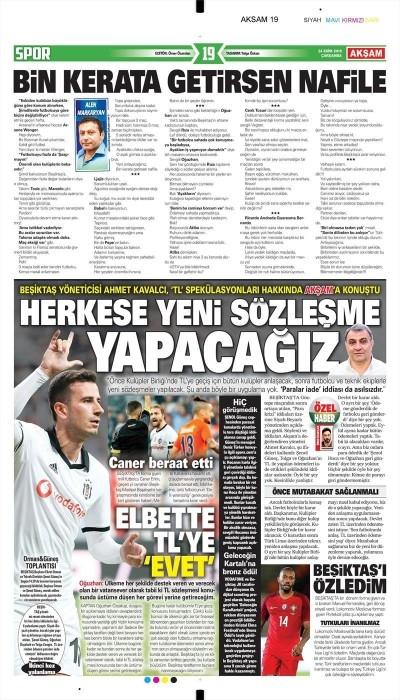 24 Ekim 2018 | Gazetelerin Beşiktaş Manşetleri 1