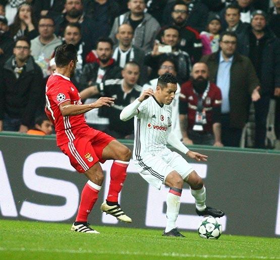 Beşiktaş-Benfica maçından kareler 1