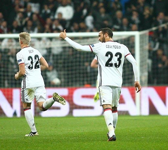 Beşiktaş-Benfica maçından kareler 11
