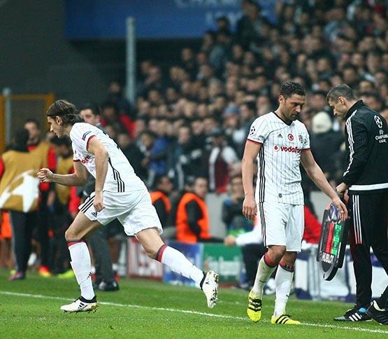 Beşiktaş-Benfica maçından kareler 14