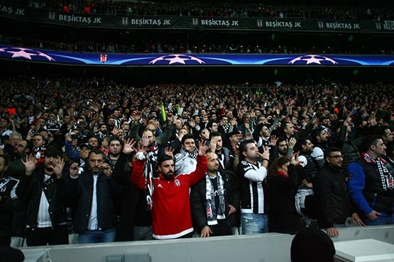 Beşiktaş-Benfica maçından kareler 46