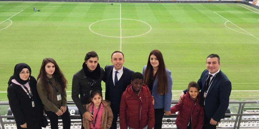 Şehit çocukları Vodafone Park'taydı