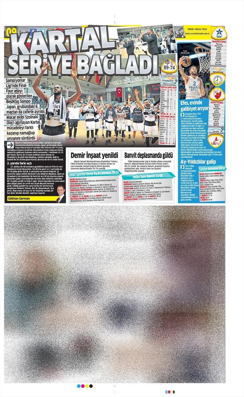 24 Kasım 2016 | Gazetelerin Beşiktaş sayfaları 6