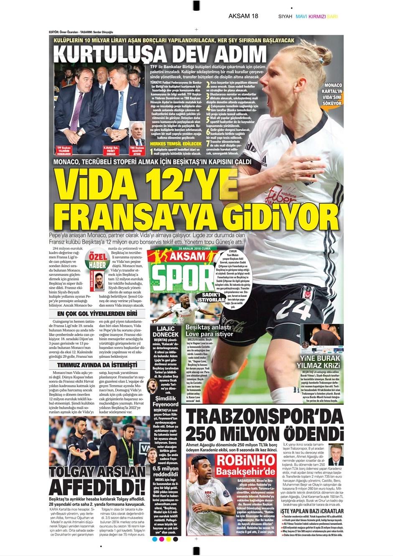 28 Aralık 2018 | Gazetelerin Beşiktaş Manşetleri 1
