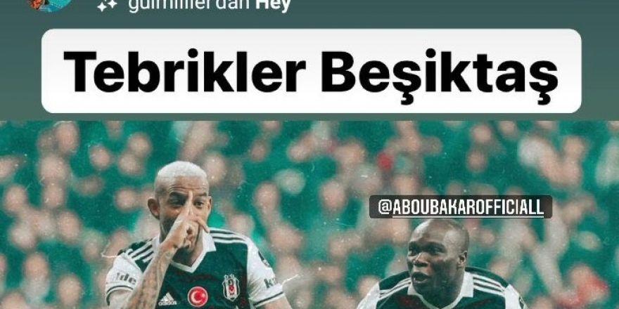 Eski Beşiktaşlı futbolcular Fenerbahçe galibiyetini kutladılar