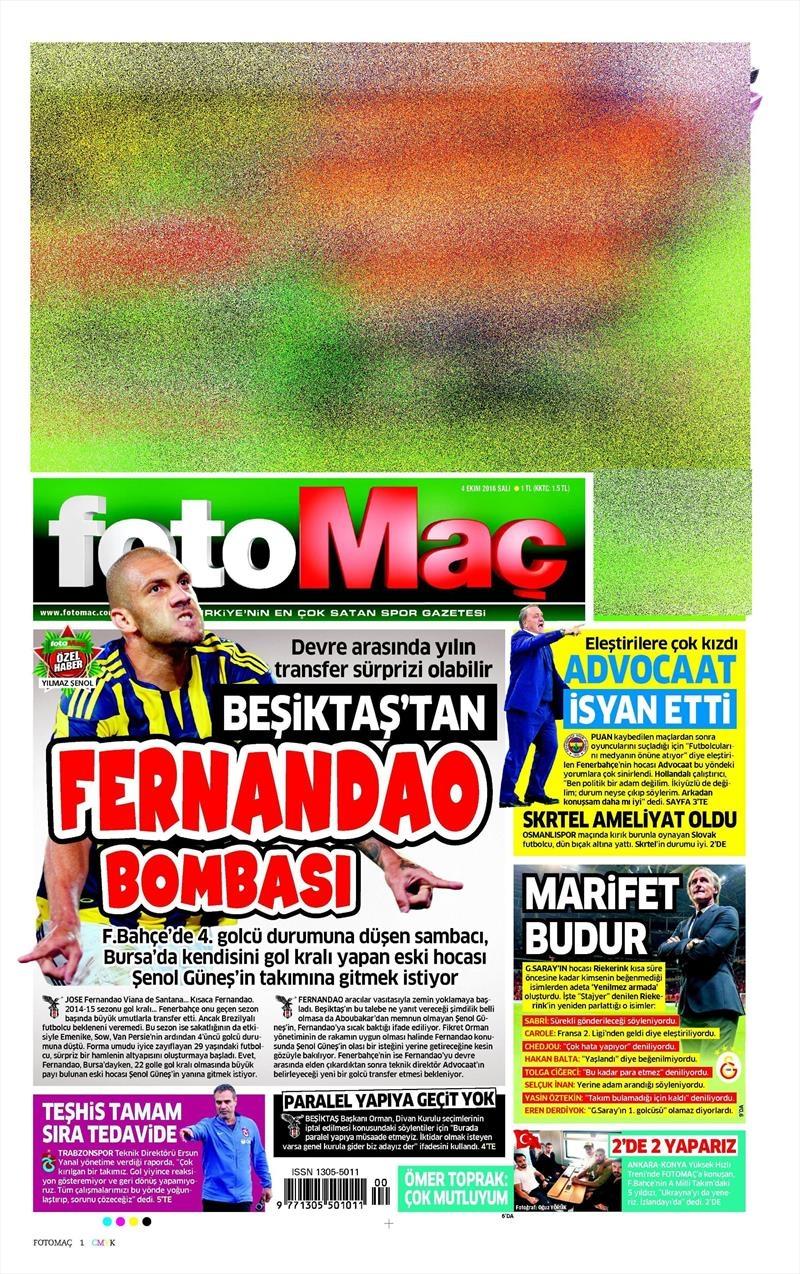 4 Ekim 2016 | Beşiktaş sayfaları 11